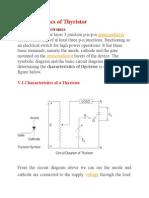 Characteristics of Thyristor