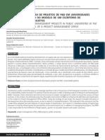 A INFLUÊNCIA DA GESTÃO DE PROJETOS DE P&D EM UNIVERSIDADES.