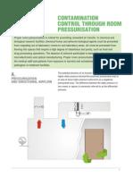 CONTAMINATION CONTROL THROUGH ROOM PRESSURISATION