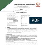 SILABO 2012 -I Matematica II