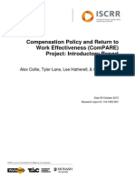 118 Compensation Policy and Return to Work Effectiveness (ComPARE) Project