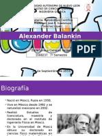 Biografía de Alexander Balankin