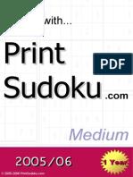 Sudoku (Medium Difficulty)