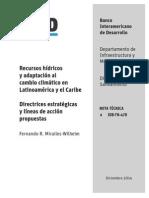 Recursos hídricos y adaptación al cambio climático en Latinoamérica y el Caribe