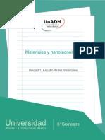 Unidad 1. Estudio de Los Materiales