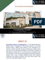 Asia-Pacific Institute of Management in Delhi