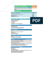SAP BO 4.1 Course Content Details