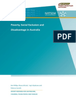 Poverty Social Exclusion and Disadvantage Australia