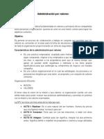 Dministracion Por Valores 2015