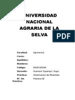 Práctica 02 de Geología Agrícola