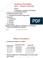 Introduction to Percolation