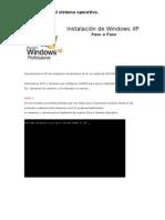 Instalacion Del Sistema Operativo Windows XP