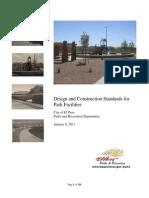 Park Design Construction Standardss