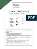 1998 Gauss 8 Contest
