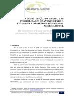 A Constituição Da Unasul e as Possibilidades de Avanço Para a Cidadania e Os Direitos Humanos Na América Do Sul