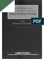 Indice manual derecho procesal
