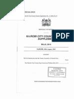 Nairobi County Assembly Dog Control and Welfare Bill 2015