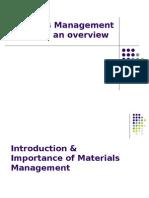 Materials Management an Overview