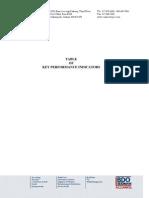 KPI Table