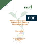 Mejoramiento Genetico y Tecnologia Agraria