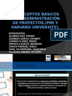 Administracion de Proyectos (Pmi, Harvard)