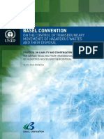 BASEL Convention on the Control of Transboundary Movements of Hazardous Waste and Their Disposal