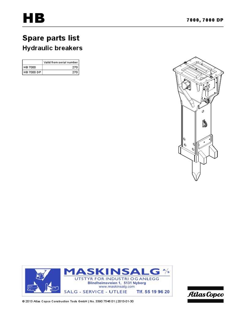Hb 7000 Atlas Copco Breaker Screw Manufactured Goods John Deere 4430 Wiring  Schematic Atlas Copco 1600 Wiring Diagram