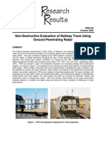 Non-Destructive Evaluation of Railway Track Using Ground Penetrating Radar