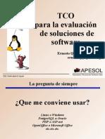 Costo de Propiedad Total Para La Evaluacion de Soluciones de Software