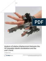 Analysis of Relative Displacement Between the HX Wearable Robotic Exoskeleton and the User's Hand 2014