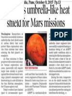 Nasa Tests umbrella-like heat shield for Mars Mission