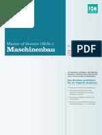 Handout Master of Science m Sc in Maschinenbau Kooperationsstudiengang Mit Der Hochschule Bochum 844