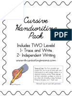 Cursive Handwriting Pack