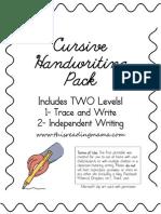 Cursive Handwriting Pack