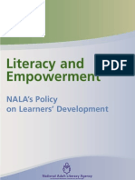 Literacy and Empowerment - NALA's Policy on Learner Development