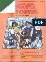 Marvel Super Heroes - Judges Screen