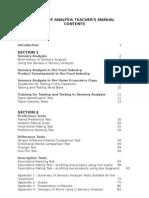 Sensory Evaluation Teacher's Manual