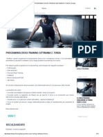 Programma Cross Training Settimana 3_ Forza _ Domyos
