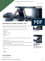 Programma Cross Training Settimana 3_ Forza _ Domyos