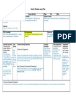 how to fill in lesson plan 8 1