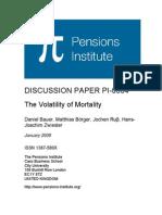 The Volatility of Mortality