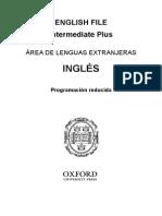 English File 3rd Ed Intermediate Plus Programacion Reducida