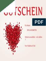 Gutschein Fractal Heart