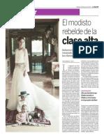 Reportaje Moda. Diseñador Roberto Diz