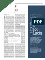 Óbito Paco de Lucía Especial Fin de Semana