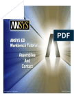 ANSYS 10.0 Workbench Tutorial - Exercise 5, Assemblies and Contact.pdf