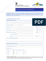 Relatório Técnico Pedagógico