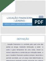 Locação Financeira - Leasing