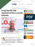 10-07-2015 Entrega Pepe Elías 1000 Contenedores de Basura a Escuelas de Reynosa