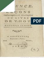 Leçons Théoretiques et Practiques du Livre de Thot